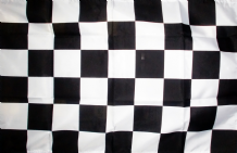 CHECKERED BLACK & WHITE - HAND WAVING FLAG (MEDIUM)